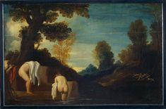 Guercino (Giovan Francesco Barbieri detto) - Diana al bagno con le ninfe - 1615-1620 - Accademia Carrara di Bergamo Pinacoteca