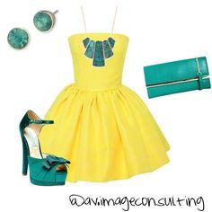 yellow and green. diferentes propuestas con el mismo vestido #1