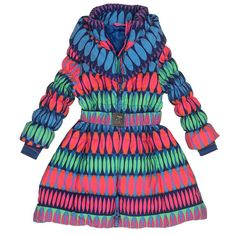 Look at this Pink & Blue Circle Puffer Coat - Toddler & Girls Pink Blue, My Girl, Chloe, That Look, Rompers, Coat, Girl Things, Toddler Girls, Things To Sell