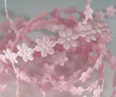 Prámik saténový kvet 10 mm ružový