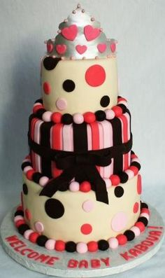 Baby Shower... Or possibly just a birthday cake for a really girly girl