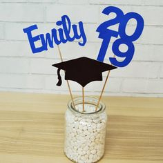 Graduation Centerpiece, Class of Graduation Party Decoration, Graduation Party, Grad Party Table Decor, by PartyAtYourDoor on Etsy Graduation Centerpiece Class of 2019 Graduation Party Grad Party Decorations, Graduation Party Centerpieces, Graduation Party Planning, Graduation Party Decor, Grad Parties, Graduation Ideas, Graduation Gifts, Graduation Cupcake Toppers, Princess Party Games