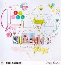 Summer: Love Summer Layout | Pink Paislee