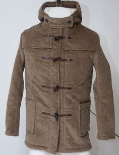 NWT Gloverall Duffle Coat Corduroy Mens England Made Fleece Classic Mens S M 38  #Gloverall #BasicCoat
