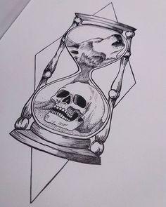 Hourglass Drawing, Hourglass Tattoo, Baby Tattoos, Body Art Tattoos, Sleeve Tattoos, Tatoos, Sketchbook Inspiration, Tattoo Inspiration, Tattoo Sketches