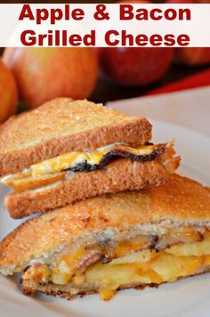 #Apple & Bacon Grilled Cheese - Are you ready for Fall and Apples? I love this Apple & Bacon Grilled Cheese. It is one of the best sandwiches I have ever had. The sauce is perfect. #apple # bacon #sandwich #grilled cheese #fall