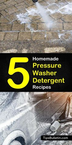5 Homemade Pressure Washer Detergent Recipes, DIY and Crafts, Discover five great diy soaps to use in your pressure washer. With these easy homemade pressure washer detergent recipes, you'll have your home and . Pressure Washing House, Pressure Washing Business, Deep Cleaning Tips, House Cleaning Tips, Cleaning Hacks, Cleaning Recipes, Cleaning Products, Concrete Cleaner, Deck Cleaner