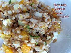Farro with Butternut Squash from teeny tiny foodie is a delicious #vegetarian or #vegan addition to your #Thanksgiving dinner