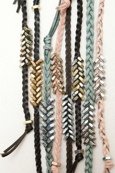 braided hex nut bracelets