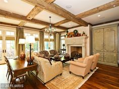 Interior of luxury home in Bethesda, Maryland