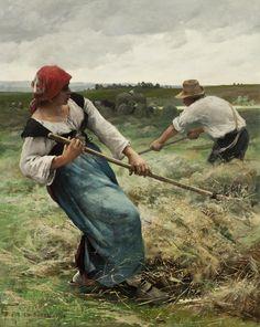 Julien Dupré, The Haymakers, 1886 (source).
