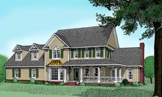 House Plan 96818 | Farmhouse   Plan with 3272 Sq. Ft., 4 Bedrooms, 5 Bathrooms, 2 Car Garage