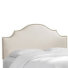 image of Skyline Furniture Sheffield Headboard with Linen Blend Upholstery
