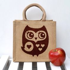 Kinda thinking I need this for student teaching!     Owl Lunch Bag by Snowdon on Etsy, $15.95