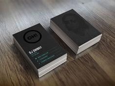 DJ Oh Boy Business Cards   Business Cards   The Design Inspiration