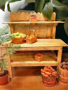 Dale Fluty - Dollhouse Designs: Dreaming of Spring - Dollhouse Potting Bench Tutorial