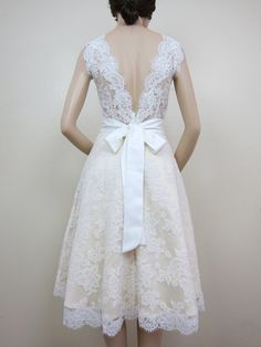 Lace wedding dress bridal gown Ivory sleeveless by alexbridal, $299.99