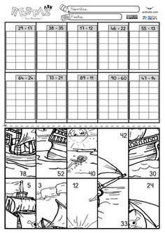 Restas 2 dígitos sin llevar 02 Math 2, Math Games, Grade 3, Second Grade, Montessori Math, Busy Book, Math Worksheets, Multiplication, Family Kids