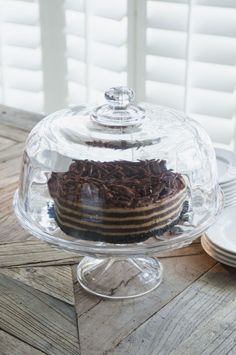 ...every thing tastes better if it comes from a glass cloche