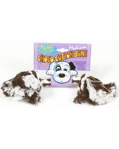 Pet Brands Choco Cotton bone Medium Dog Toy