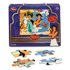 Disney Aladdin Puzzle | Disney StoreAladdin Puzzle - They couldn't wish for a more engaging <i>Aladdin</i>image to piece together than this one featuring all their favorite characters. Jasmine, Raj, Aladdin, Genie, and Abu are pictured in this 64-piece puzzle that comes in carrying box.