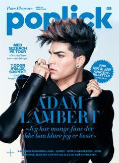 Adam Lambert on the cover of a magazine