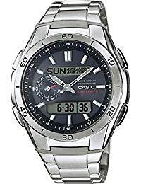 81bb69ec83e1 Casio Reloj Analogico-Digital para Hombre de Cuarzo con Correa en Acero  Inoxidable WVA-