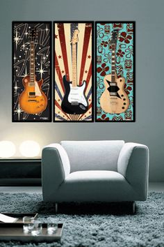 So making something like this for Kevin's guitars... the gears are spinning - wondering if I can do this before the end of next week. GuitarMatz: Wall Mounting System for Guitars