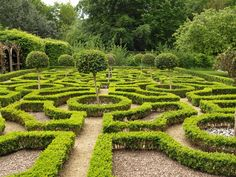 Knot Garden at Moseley Old Hall, where Charles II hid following his escape from the Battle of Worcester