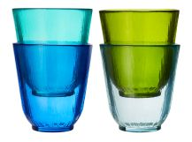 Eve x4 Muted Tonal Mid Glass Tumblers