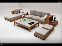37 Ideas Furniture Sofa Set Small Spaces For 2019 Furniture Sofa Set, Modular Furniture, Home Decor Furniture, Pallet Furniture, Furniture Design, Wooden Living Room Furniture, Furniture Online, Outdoor Furniture, Sofa Bed Design