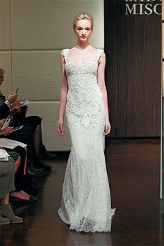 Lovely spring Badgley Mischka wedding gown