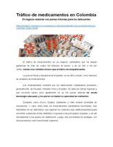 Tráfico de Medicamentos en Colombia