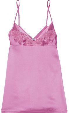 La Perla - Windflower Embroidered Stretch-silk Satin Chemise - Baby pink