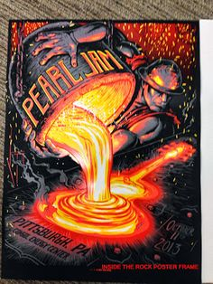 Wish I would have bought this. :( Pearl Jam Poster for Pittsburgh 2013