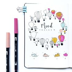 Monthly mood tracker ideas for your bullet journal that will motivate you to feel good every single day. You'll be thrilled to copy these mood trackers! decoration ideas with balloons Genius Mood Tracker Ideas For Your Bullet Journal - Craftsonfire Bullet Journal Tracker, Bullet Journal Banners, Bullet Journal Simple, Bullet Journal Notebook, Bullet Journal Inspo, Bullet Journal Spread, Bullet Journal Ideas Pages, Filofax, Journal Inspiration