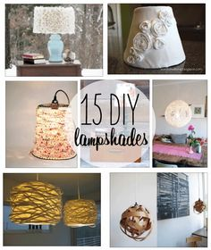 15 DIY Lampshades