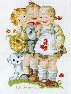 """Counted cross stitch KIT Hummel """" Follow the leader"""""""