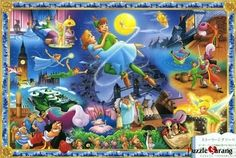 "Jigsaw Puzzles 1000 Pieces ""The world of Peter Pan"" / Disney / Tenyo / 1000-231"