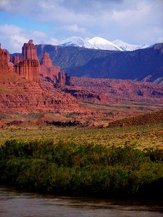 Fisher Towers and The La Sal Mountains