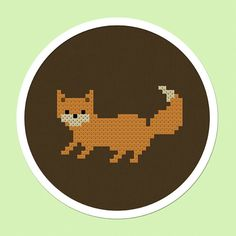 Cute Fox Cross Stitch Pattern. PDF File by andwabisabi on Etsy, $2.50