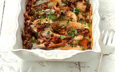 Karp zapiekany z grzybami i śmietaną Karp, Lasagna, Ethnic Recipes, Food, Meal, Essen, Hoods, Meals, Eten