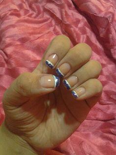 Purple & White nails