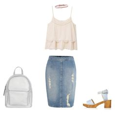 """Untitled #94"" by rachelsdescription on Polyvore featuring Calvin Klein, MANGO, DANNIJO, Topshop and New Look"
