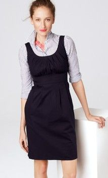 layer a sheath dress over a sweater or turtleneck (with a skinny ... 934bd2707