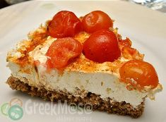GreekMasa - Ριγανάδα (Ντάκος) τούρτα Appetizer Recipes, Snack Recipes, Dessert Recipes, Snacks, Wine And Cheese Party, Wine Cheese, Cheesecake, Savory Tart, Appetisers