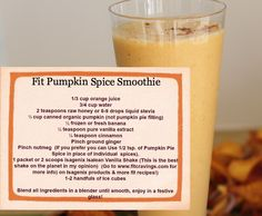 I created this Fall/Winter Festive Smoothie to Satisfy Foodies who want to eat healthy fit foods without sacrificing flavor...Enjoy!