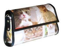 Trapezoid clutch crossbody for cat lovers Free standard shipping Upcycling by Milo ** Visit the image link for more details. Cat Lover Gifts, Cat Lovers, Lovers Gift, Kitten Images, Hipster Bag, Handmade Handbags, Sewing Basics, Zip Wallet, Clutch Purse