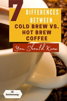 Learn the 7 differences between cold brew coffee vs hot brew coffee you should know. Learn it here. Coffee Type, Hot Coffee, Iced Coffee, Coffee Drinks, Coffee Facts, Coffee Lovers, Cold Brew, Coffee Recipes, Coffee Beans