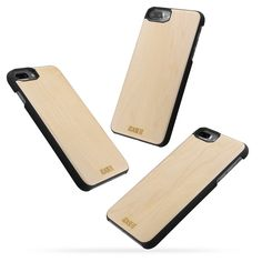 iCASEIT iPhone 8 Plus Wood Case - Premium Finish Unique Cases - Lightweight Natural Wooden Hybrid Snap-on Protective Cover for iPhone 7 & 8 Plus - - Bamboo Iphone 8 Plus, Iphone 7, Iphone Cases, Usb Flash Drive, Bamboo, Apple, Wood, Cherry, Apple Fruit